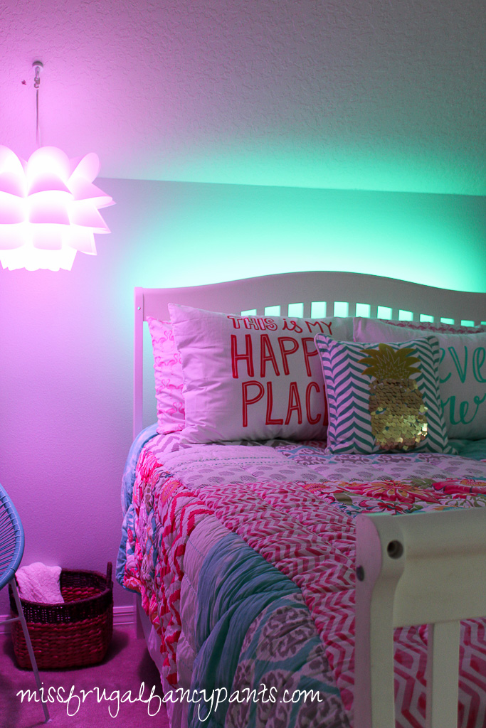 Colorful Tween Bedroom Lighting Miss Frugal Fancy Pants
