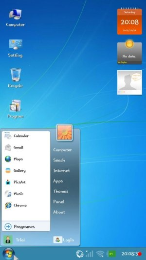 windows 7 launcher for android tablet