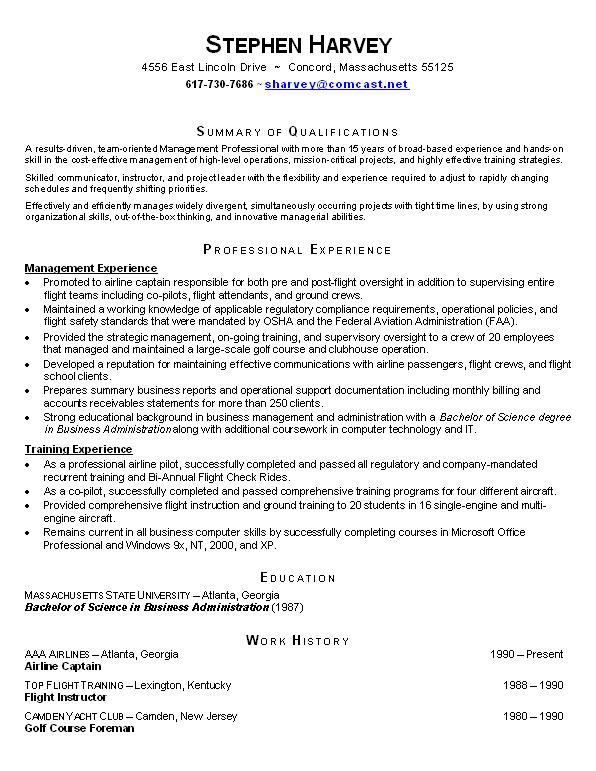 Functional Resume Of A Student | Professional Cover Letter Example
