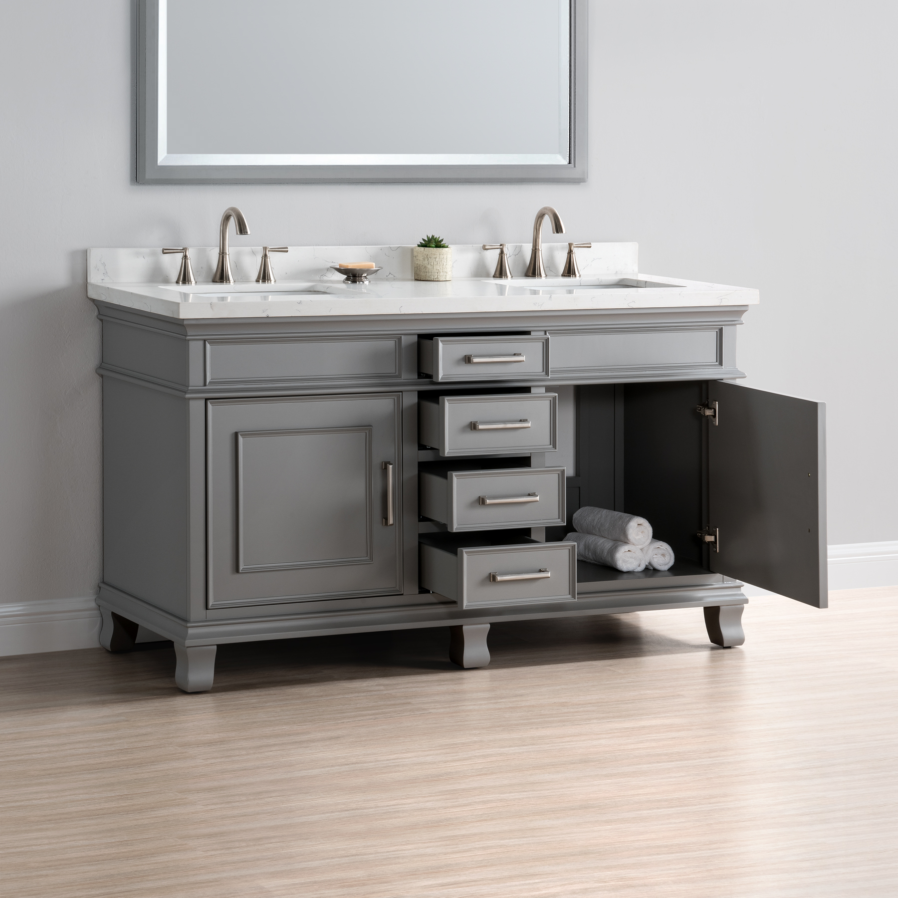 Two Sink Vanities Charleston 60 Quot Double Sink Vanity Mission Hills Furniture