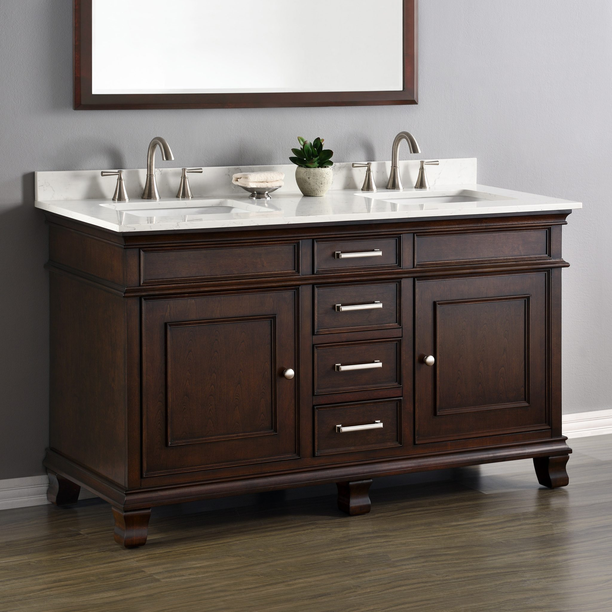 Two Sink Vanities Camden 60 Quot Double Sink Vanity Mission Hills Furniture