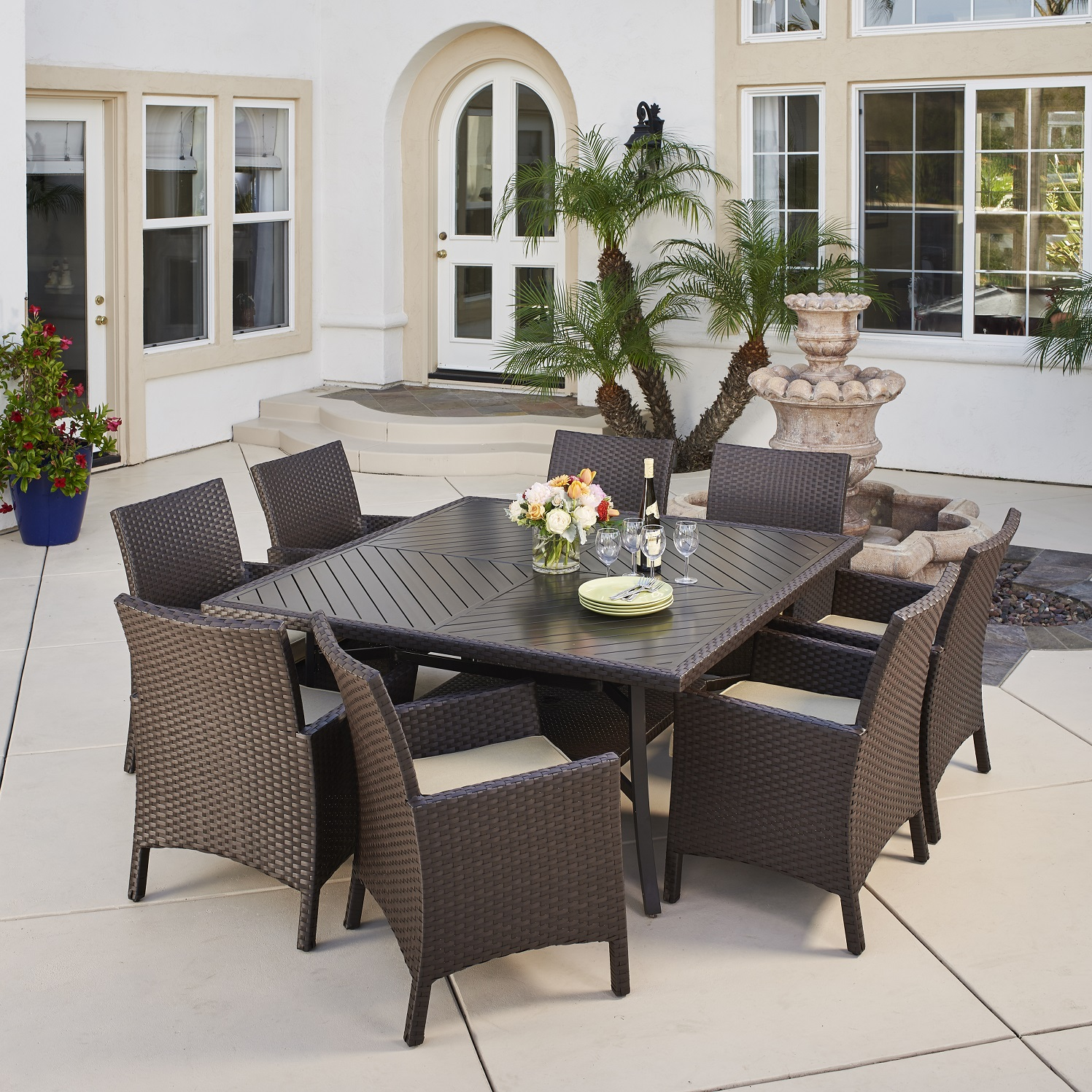 9 Piece Outdoor Dining Set Avalon Bay 9pc Dining Set Mission Hills Furniture