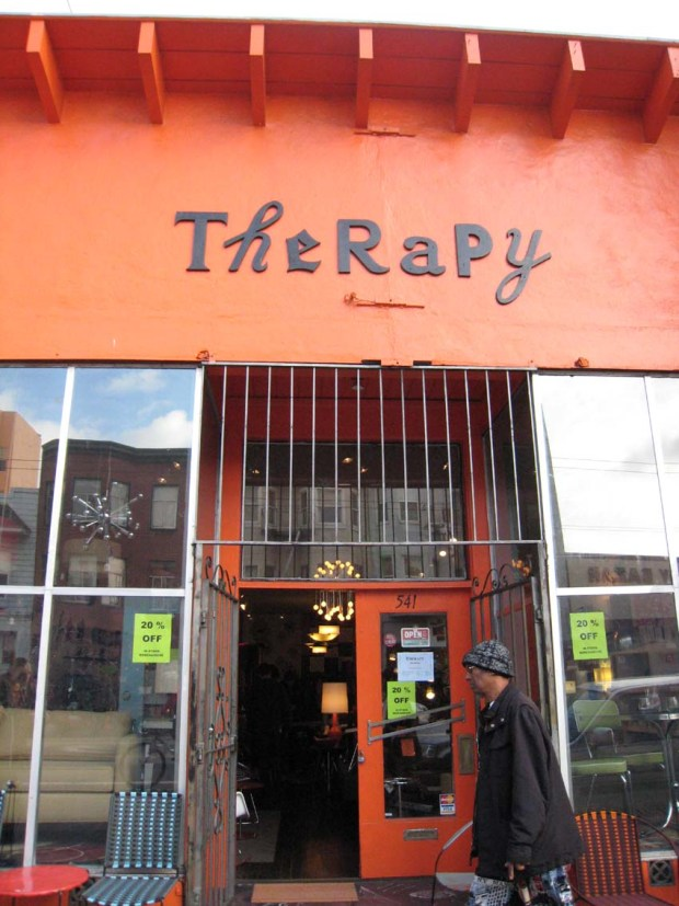 Therapy on Valencia Street will be closing after 13 years of business.