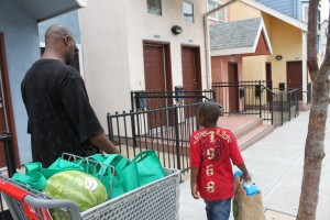 Uncle Terry delivers food from the Food Bank