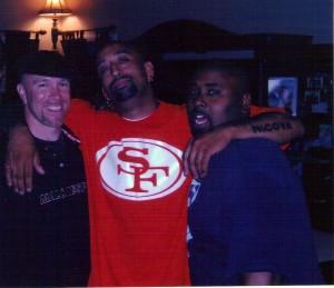 From left: Tony Lucero, Peña, Corey Edgerly
