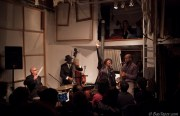 "The Marcus Shelby Quartet performs ""MLK and Jazz"" at Red Poppy Art House (photo courtesy of BayTaper.com)"
