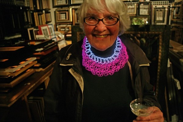 Eleanor Kent and her fantastic necklace battery-operated conceived by herself.