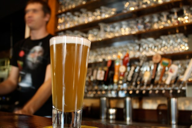 The Moonlight Special Sour Mash Wheat Lager at Monk's Kettle.
