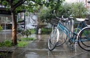 The only thing sadder than biking in the rain is biking in the rain without a ten percent discount.