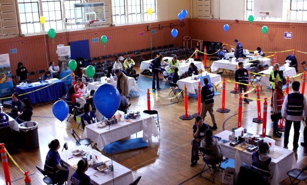 Free Vaccine clinic at Roosevelt Middle School, San Francisco