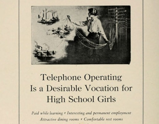 What future lay ahead after high school? For the ladies, not much. Job opportunities for demale graduates in 1928 were in occupations like sitting in a chair and moving cables from hole to hole all day.