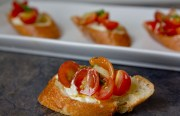 Mexican Bruschetta With Spicy Vegan Cashew Cream Cheese