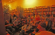 Pale Horse plays light melodies for the mourning friends of Adobe Bookshop Wednesday night.