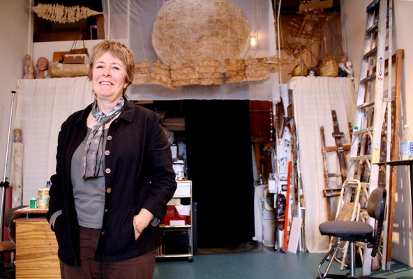 Jennifer Ewing in her studio at Developing Environments.