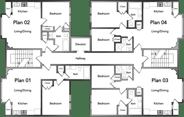 The floor plan for new development 411 Valencia