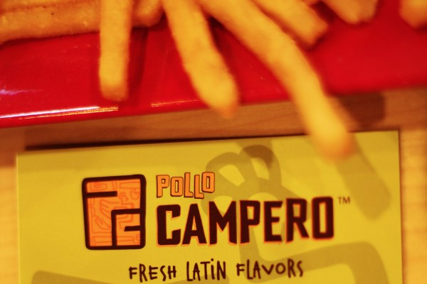 Pollo Campero's logo. Photo by Claudia Escobar.