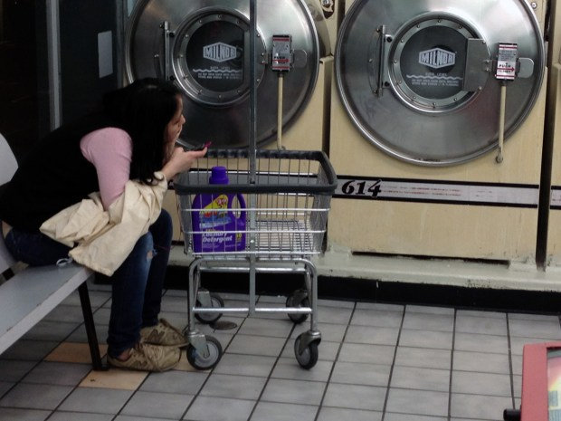 A laundromat on Mission Street.