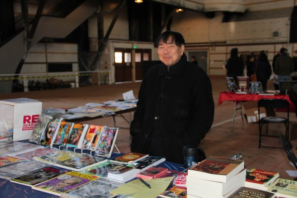 Publisher V.Vale has been going to the Anarchist Book Fair for 18 years. This year's event was located at the Armory. Photo by Carly Nairn.