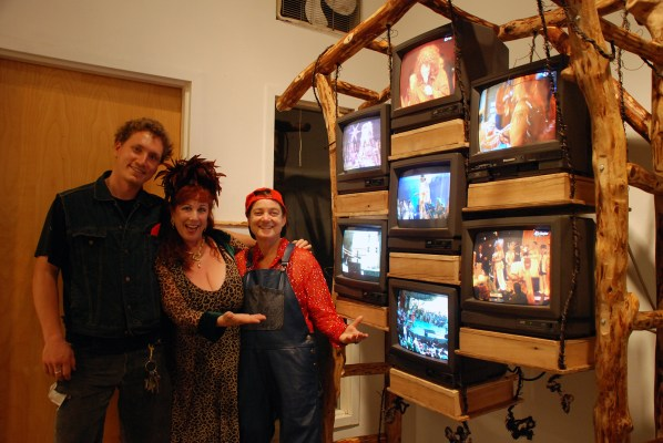 "Sculptor Luke Wilson and queer artists Annie Sprinkle and Elizabeth Stephens video, installation and sculpture work ""We do! 2004 to 2011 and 2013"""
