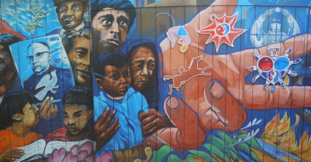This mural commemorates Archbishop Romero. Photo by Erica Hellerstein.