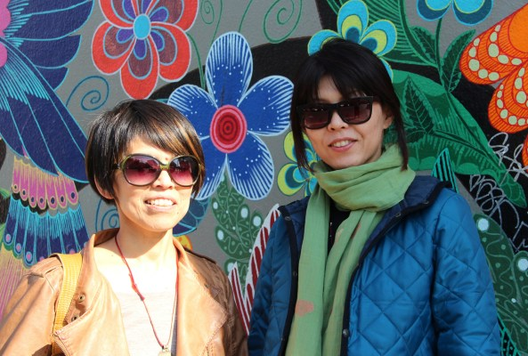 "During her first visit to San Francisco, Kumi Inaba (right) is staying with her friend Sachiko Willis (left), who brought her to see the Mission. Willis said she always brings friends to see the Mission because ""there is such a mixture of cultures and history in one place. I find it interesting."""