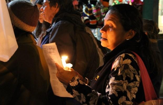 """Singers at Las Posadas performed renditions of """"Feliz Navidad,"""" """"Noche de Paz,"""" and """"El Niño de Tambor."""""""