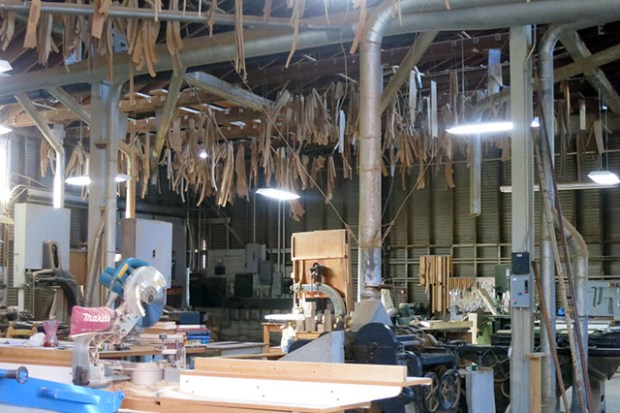 Woodworking still goes on in the Mission. This place is on 17th Street and Treat Avenue.