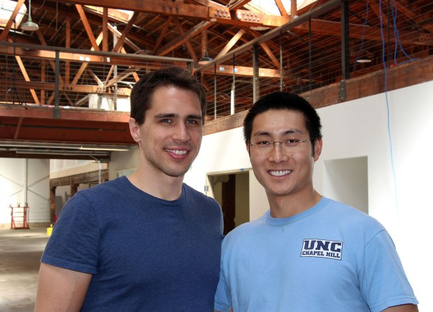 Twice co-founders Noah Ready-Campbell and Calvin Young at their new location, which is currently being renovated.
