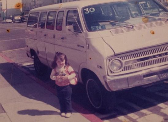 Di Pilla's original Jitney, with a young Michele, in 1976. Courtesy of the Di Pilla family.