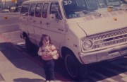 Di Pilla's original Jitney, with a young Michele, in 1976. Courtesy of the Di Pilla family.