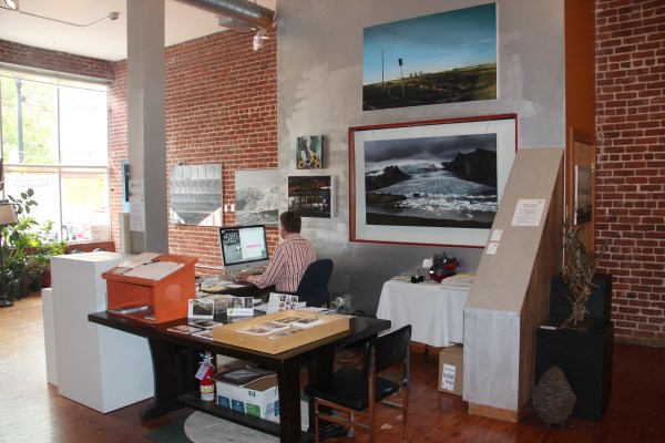 The desk from which Koehler greets visitors. Photo by Joe Rivano Barros.