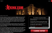 Screenshot of Kink.com's welcome page.