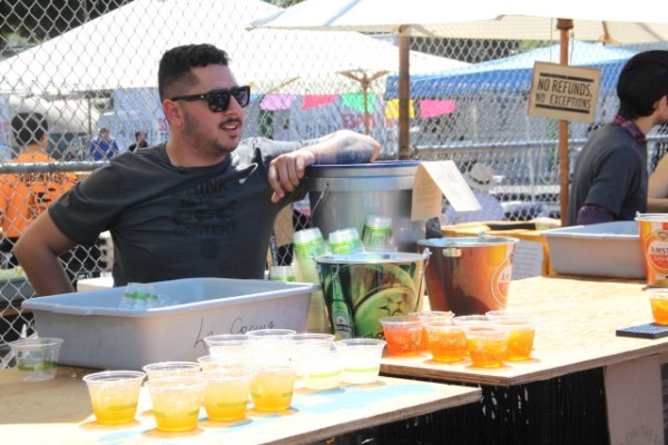 Final stop: An Aperol Spritz brunch, where Zigas said that bartenders from around the city come and volunteer, donating their time and tips to the event. Photo by Joe Rivano Barros.