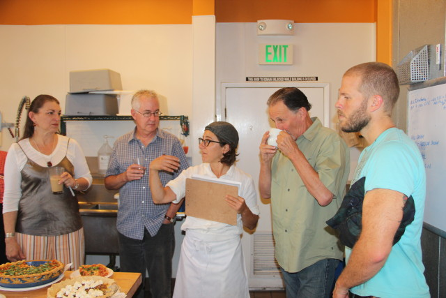 Co-founder Krystin Rubin explains the rules to the panel of judges. Photo by Joe Rivano Barros.