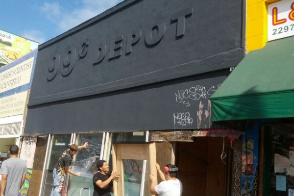 This former 99 Cent Depot is slated for Ramen. Photo by Daniel Hirsch.
