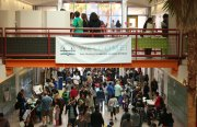 Hundreds showed up at John O'Connell High School on Saturday. Photo by Andra Cernavskis