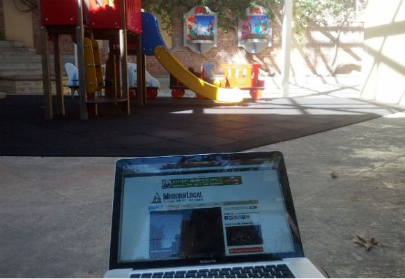 #SFWiFi at work at the Mission Recreation Center. Photo by Daniel Hirsch.