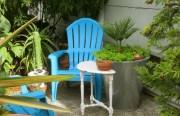 Blue Seating.  Photo by Kathleen Narruhn