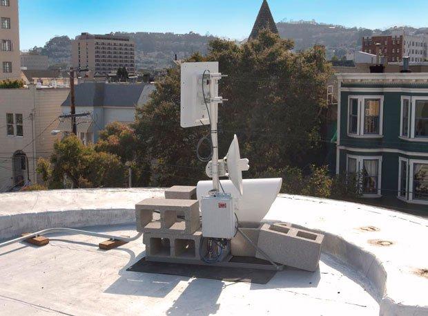 A standard MonkeyBrains antenna. Photo by George Lipp