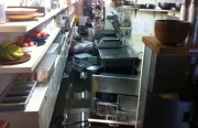 The prepping area in the kitchen at Stable Cafe on 17th and Folsom. Photo by Andrea Valencia.