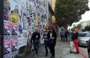 The art wall on Valencia. Photo by Lydia Chávez