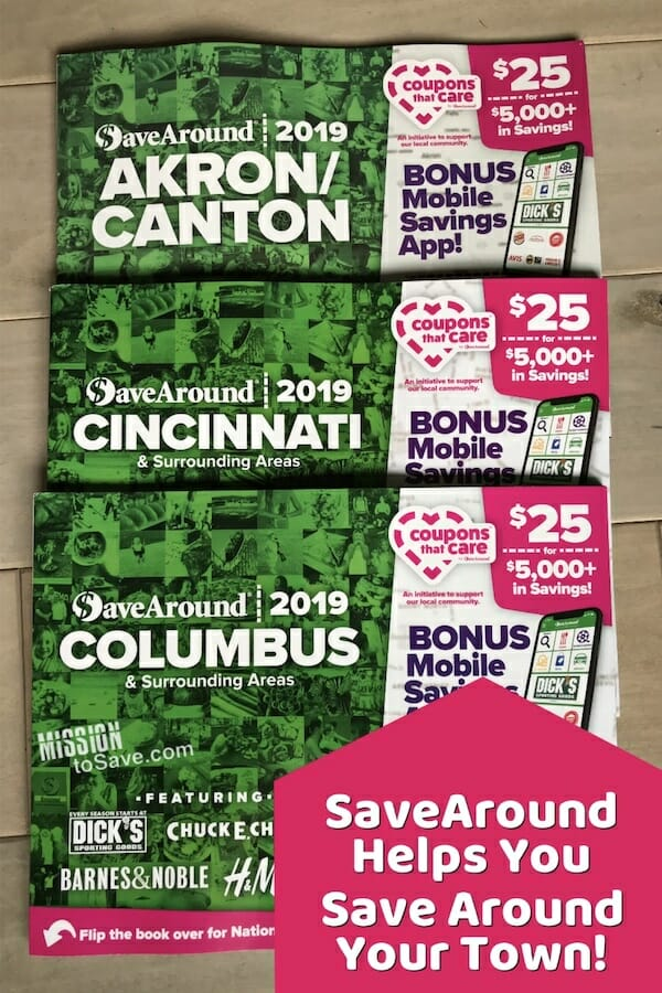 Save More Around Your Town with SaveAround Coupon Books - Mission - Coupon Book Printing
