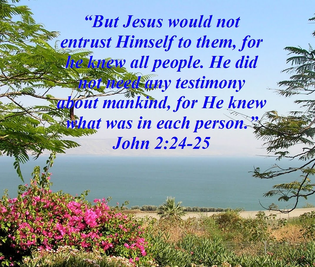 Trust Quotes Hd Wallpaper Jesus Teaches About Trusting People John 2 24 25