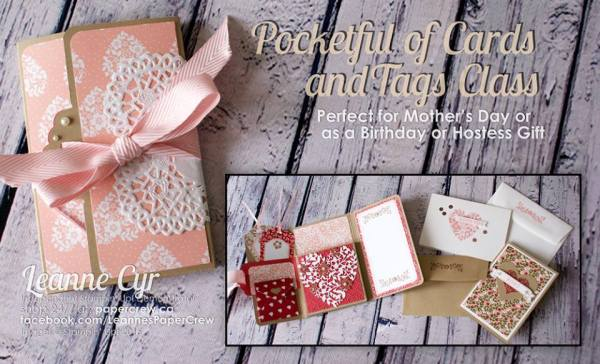 Pocketful of Cards & Tags Class by Leanne Cyr