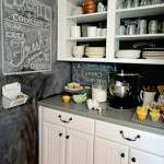 Chalkboard Kitchen Backsplash