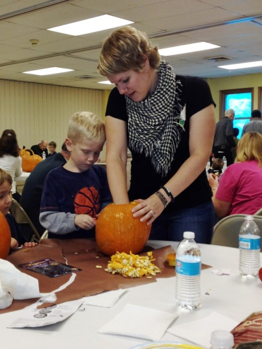 pumpkin scooping 2