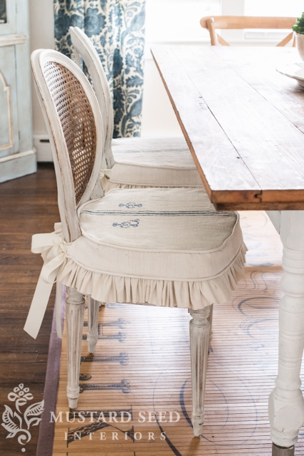 dining chair slipcover tutorial | miss mustard seed