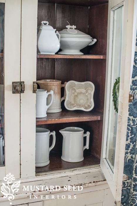 ironstone | antique hutch