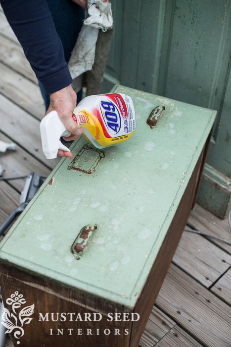 cleaning a chippy piece | miss mustard seed