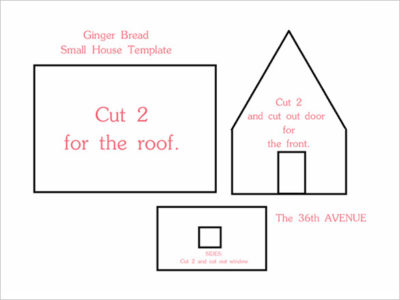 Printable-Gingerbread-House-Templates - Miss Mustard Seed